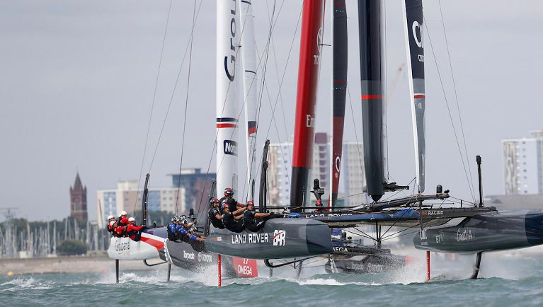 Laser cutting for Louis Vuitton America's Cup World Series